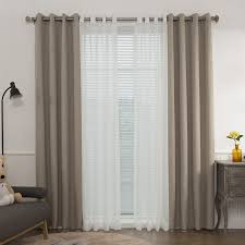 Single Blackout Curtain Best Home Fashion Inc Mix And Match Muji Solid Blackout Thermal