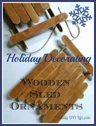 decorating wooden sled ornaments
