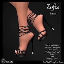 second life marketplace felicity zofia stilettos black high