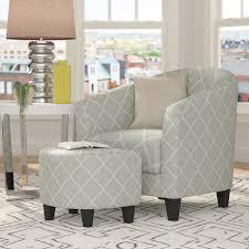 brayden studio 2 piece upholstered barrel chair and ottoman set