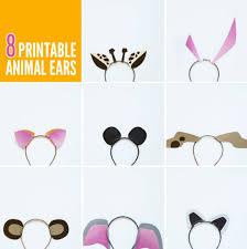 eight free printable animal ears templates via pagingsupermom