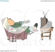 Couch Potato Tv Couch Potato Man Holding The Tv Remote Controller Clipart By Djart