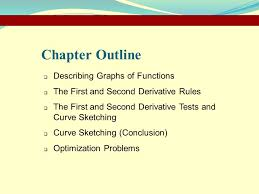 chapter 2 applications of the derivative describing graphs of