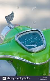 vintage honda logo speedometer and wing logo of restored honda 70 c 70 motorbike