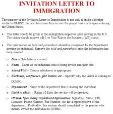 how to write a letter of invitation for visa application letter of