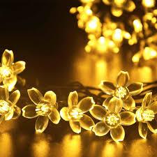 cheap solar flower string lights tree lights 21ft 50 led