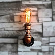 Copper Wall Sconce Lights Fashion Style Wall Sconces Copper Pipe Industrial Lighting