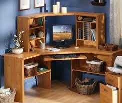 Corner Computer Desk With Shelves Furniture Chic Corner Wood Computer Desk For Efficient Space
