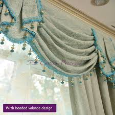 Blue Swag Curtains Blue Green Swags Valance Pelmets Door Curtain Fabric Drapes Sheer