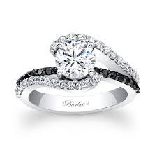 white and black diamond engagement rings barkevs black diamond engagement ring 7848lbk barkevs black