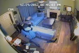 interior home surveillance cameras the surveillance footage of burglars breaking and entering