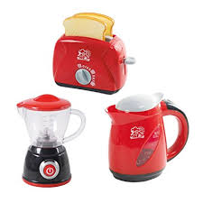 kitchen collections appliances small amazon com playgo chef kitchen collection my toaster my blender