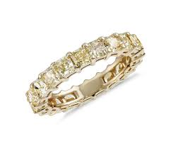 gold eternity ring radiant cut yellow diamond eternity ring in 18k yellow gold 3 51