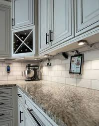 Kitchen Cabinets Lights Ingeniously Positioned Completely Disguised Electrical Outlets