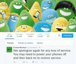cricket wireless black friday cricket wireless service restored after 15 hour outage prepaid