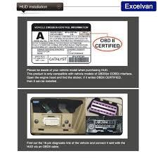 lexus models with hud excelvan hud x5 obd ii eobd auto car speedometer hud projector