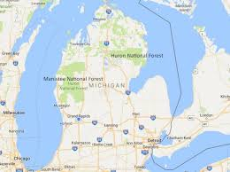 map of michigan maps totally screwed up the national forests in michigan