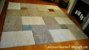Diy Runner Rug A Scoop Of Sherbert Large Area Rug Diy For 30