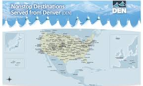 United International Route Map by Nonstop Destinations Denver International Airport