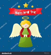 happy new year merry greeting stock vector 506952802