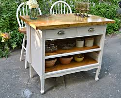 Cottage Kitchen Island by Heir And Space Antique Dresser Turned Cottage Kitchen Island