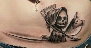 baby grim reaper skull tattoos babies