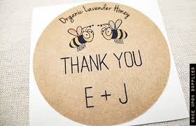 wedding favor labels honey favor stickers honeybee wedding favors labels