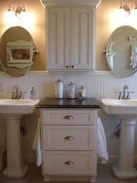 shabby chic bathroom art frameless glass rectangle wall mirror