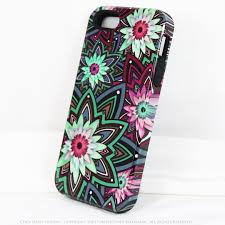 green and purple floral iphone 5s se tough case cool daisy