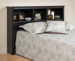 queen size storage bed with bookcase headboard design a queen