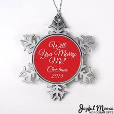 will you marry me christmas ornament personalized proposal christmas