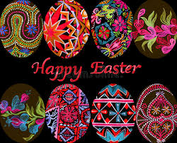 european styles easter eggs with traditional painting eastern european styles of