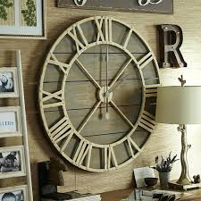 wall clocks large oversized big giant rustic for cabins best ideas