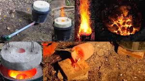 large 50 mini homemade metal foundry furnace forge propane or