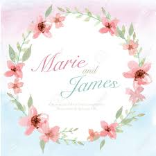 flower wedding invitation card save the date card greeting