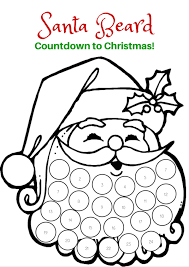 santa beard countdown to christmas santa beard printable