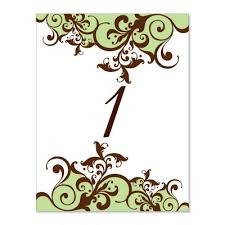 green u0026 brown table number templates claire moss do it yourself