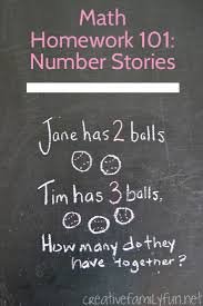 math homework 101 what is a number story creative family fun