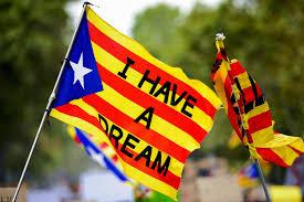Estelada Flag Im Katalonien Konflikt Kommt Viel Unterdrückte Wut Und Verletzter