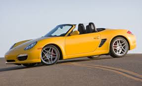 yellow porsche boxster 2009 porsche boxster information and photos zombiedrive