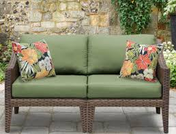 Wicker Loveseat Patio Furniture - manhattan outdoor wicker loveseat with cushions u0026 reviews allmodern