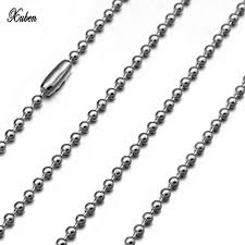 stainless steel ball necklace images 2 4 mm silver color metal ball bead chains for diy bracelet jpg