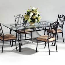 industrial glass dining table iron dining room chairs make a photo gallery image of beautiful