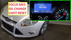 2012 ford focus oil light reset how to reset the change engine oil light reset oil life on ford