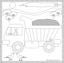dump truck coloring page printout enchantedlearning com