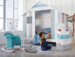 sweet bedroom colors palette for kids with lovely wooden house
