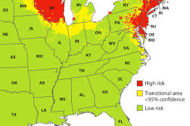A Map Of Illinois by Map Aims To Help Health Officials Take A Bite Out Of Lyme Disease