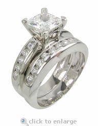 princess cut cubic zirconia wedding sets 7 best cz princess cut cubic zirconia jewelry images on