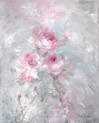 Shabby Chic Paintings by Spring Original Shabby Chic Rose Painting By Debi Coules Debi