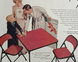 Samsonite Folding Chairs For Sale Vintage Samsonite Card Table Etsy
